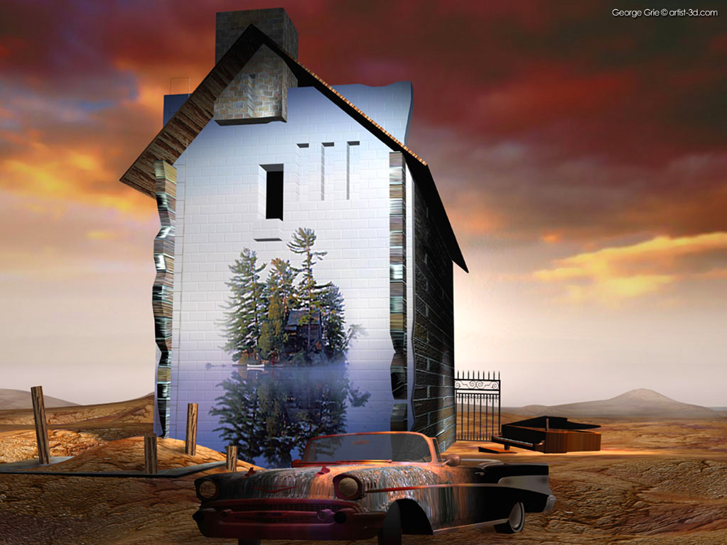 Modern surrealism fantasy art 3d pictures george grie 3d - Surreal screensavers ...