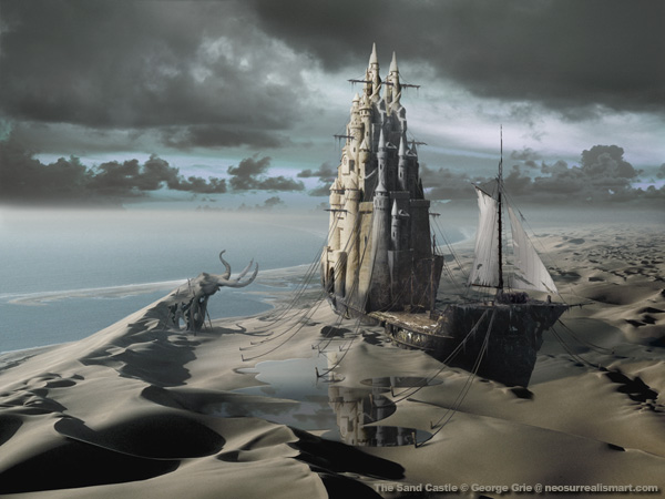 The Sand Castle - 3D Art Fantasy Modern Surrealism Pictures Limited Edition