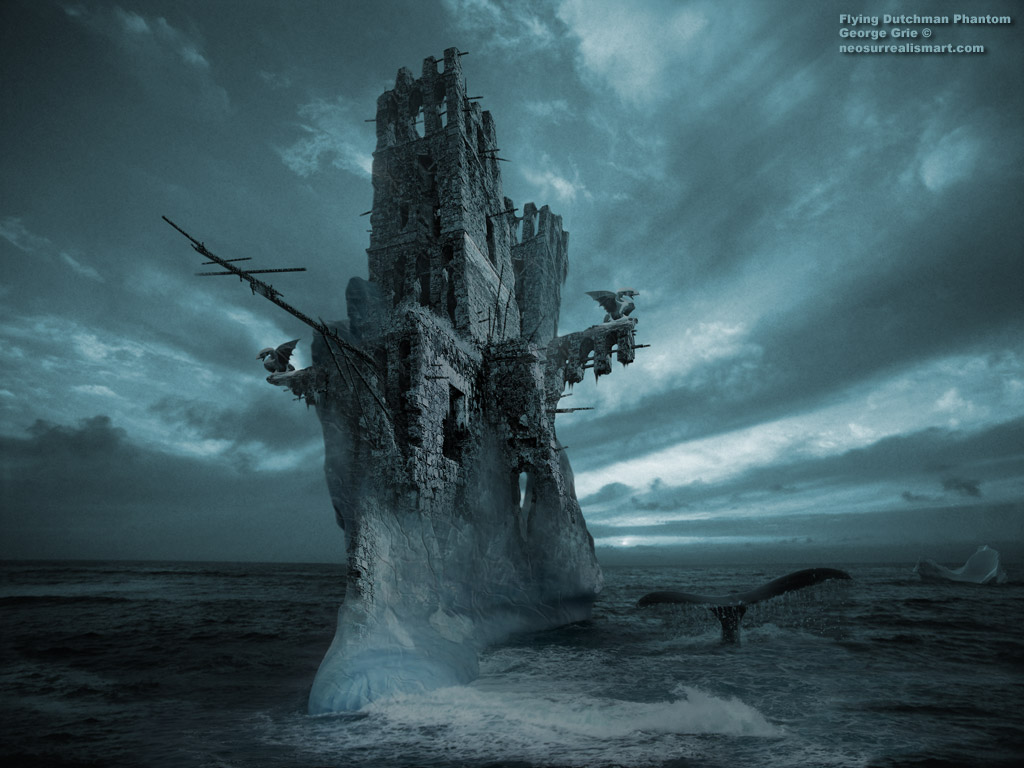 ... by 3D artist George Grie: The Flying Dutchman Phantom 3D wallpaper