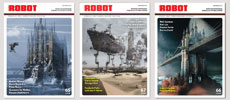 George Grie magazine interview Covers 65 66 67, Robot