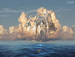 surrealism, Castle in the Sky or Clouds of Shattered Dreams