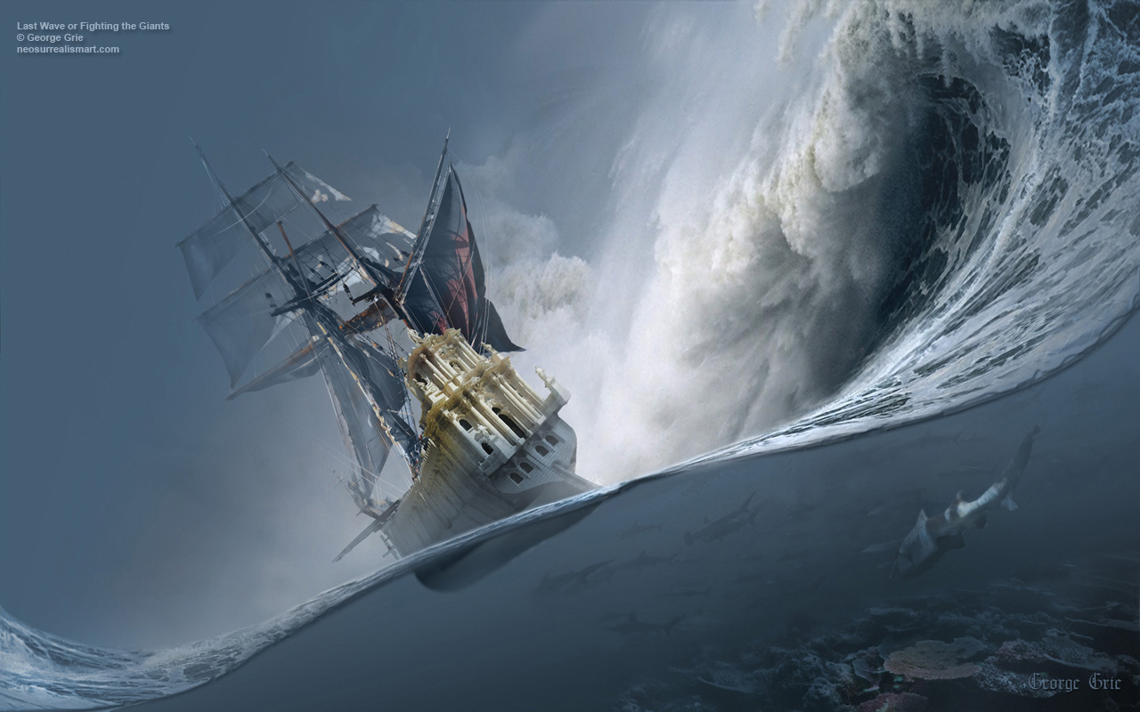 The Last Wave Or Fighting The Giants Maritime Sailboat